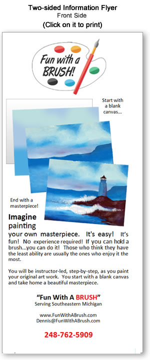 Fun With A Brush - Brochure (Front)
