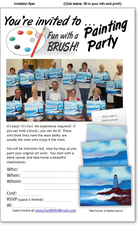Fun With A Brush Invitation